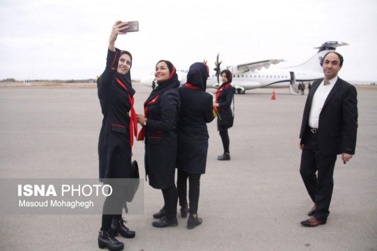 ✅ گزارش تصویری: نخستین پرواز فرودگاه سمنان